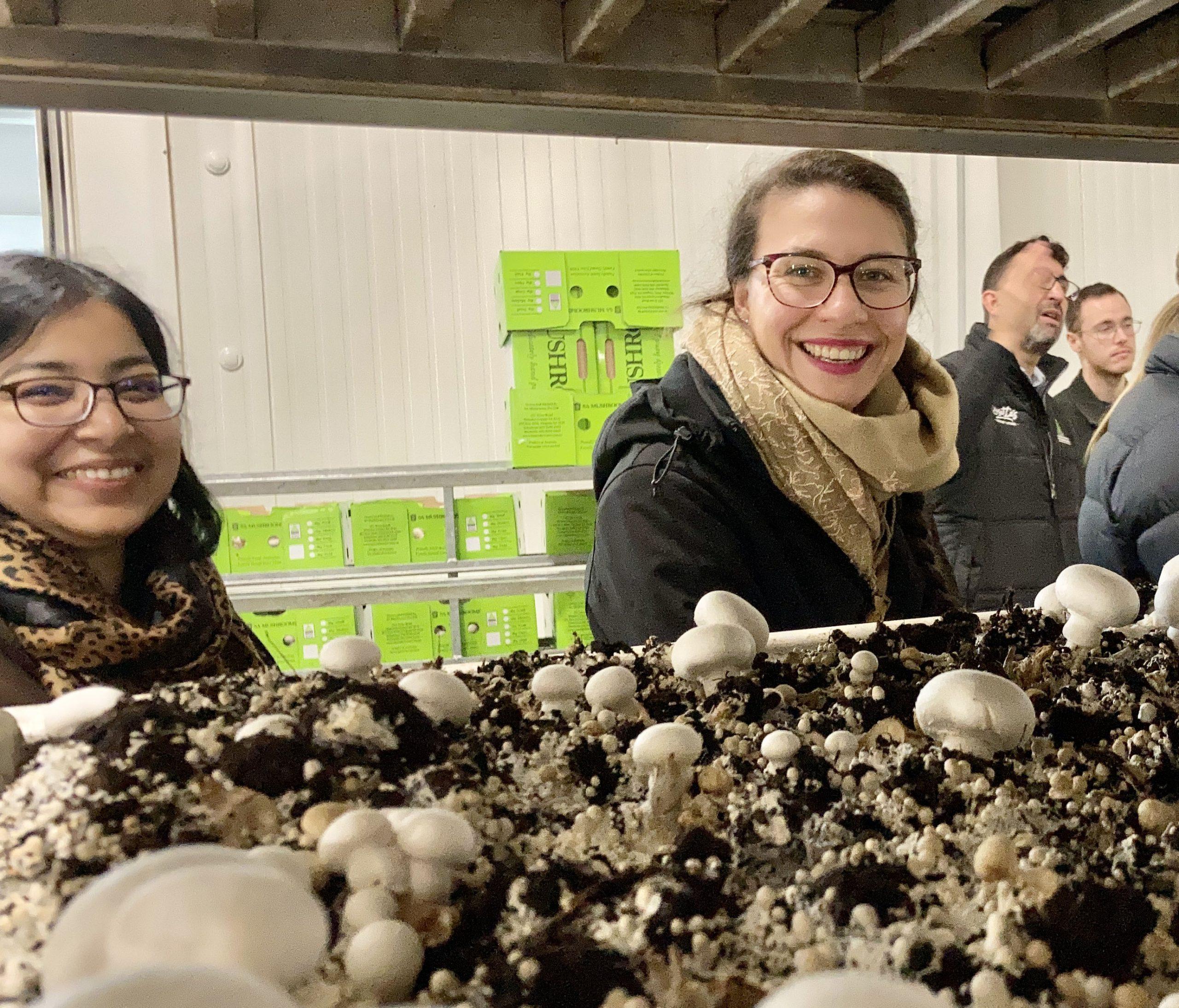 Amena Khatun and Caterina Selva at SA Mushrooms